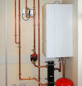 Office boiler installation