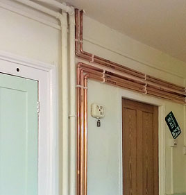 New copper pipework