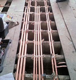 Copper pipework